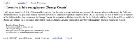 Craigslist lawyer