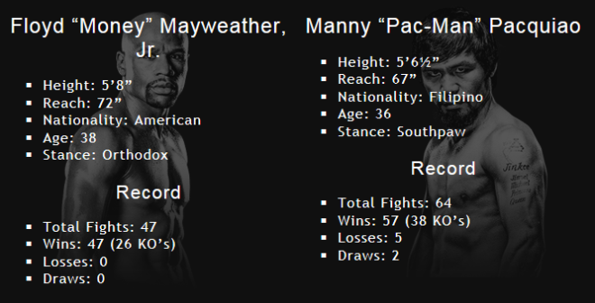 Mayweather Fight Stats